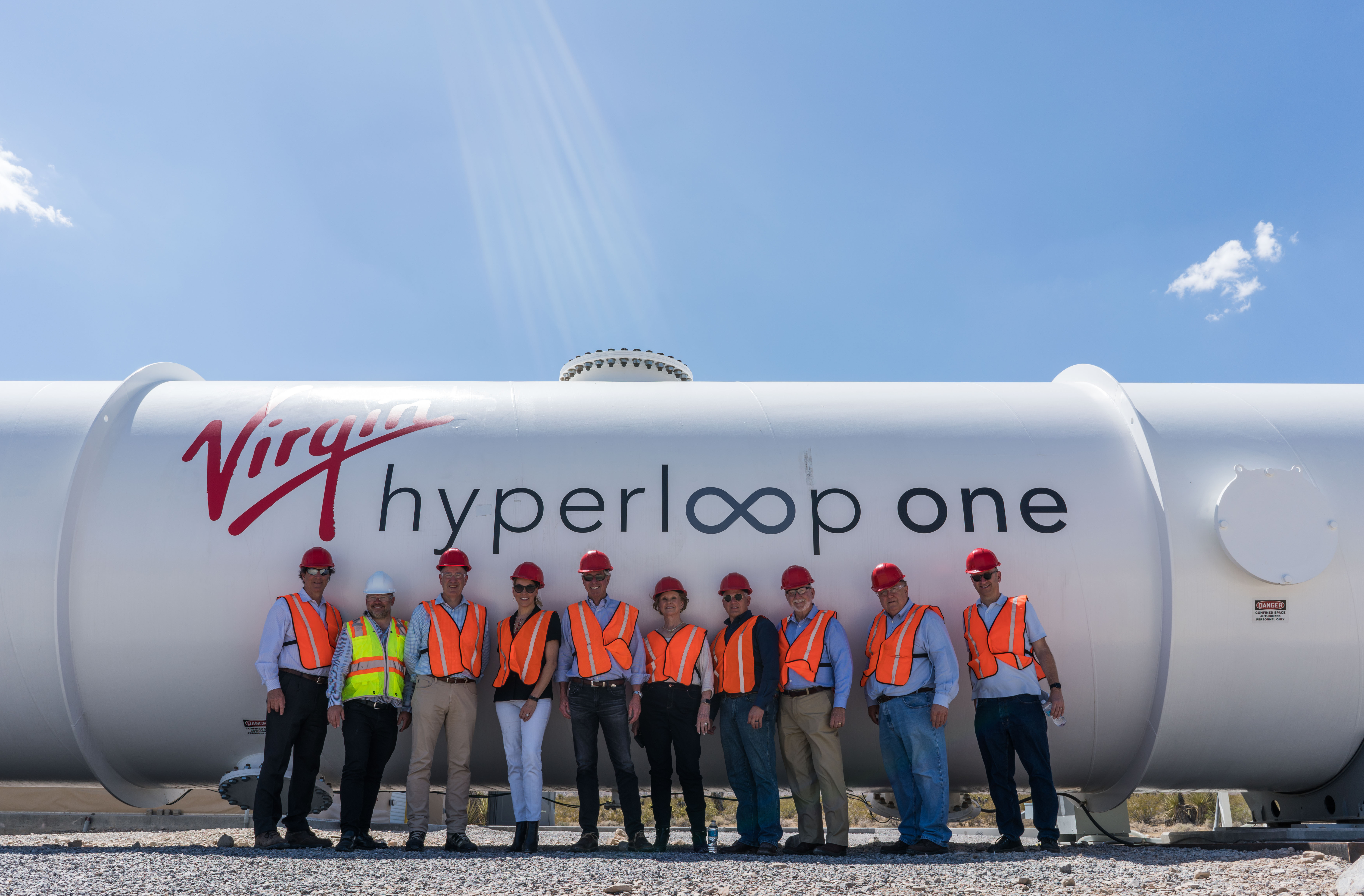 Photo of North Texas delegation to hyperloop