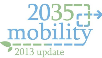The logo for Mobility 2035 -2013 Update