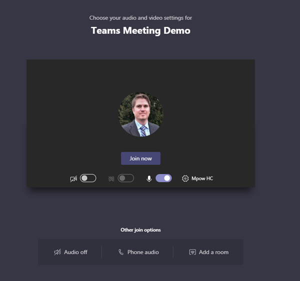 Teams Meeting Connection