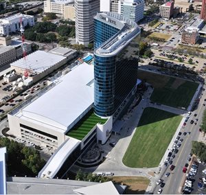 Aerial view of the Omni Center