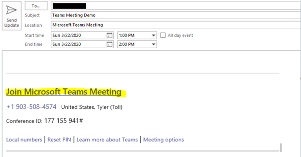 Teams Meeting Invite