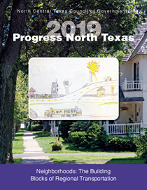 This is the cover of our newest Progress North Texas publication featuring an image of a home in a communtiy..