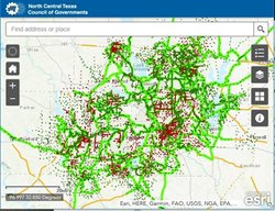 An interactive map of NCTCOG's trails and on-street bikeways