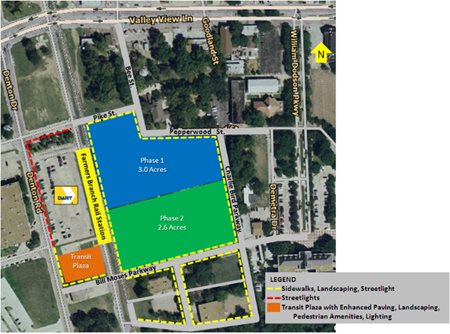 Proposed location of mixed-use development