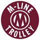 This is the logo of the McKinney Avenue Transit Authority which is a non-profit organization that operates the M-Line Trolley.
