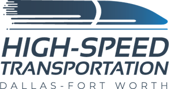 The official logo of the High Speed Transportation Study in Dallas Fort Worth