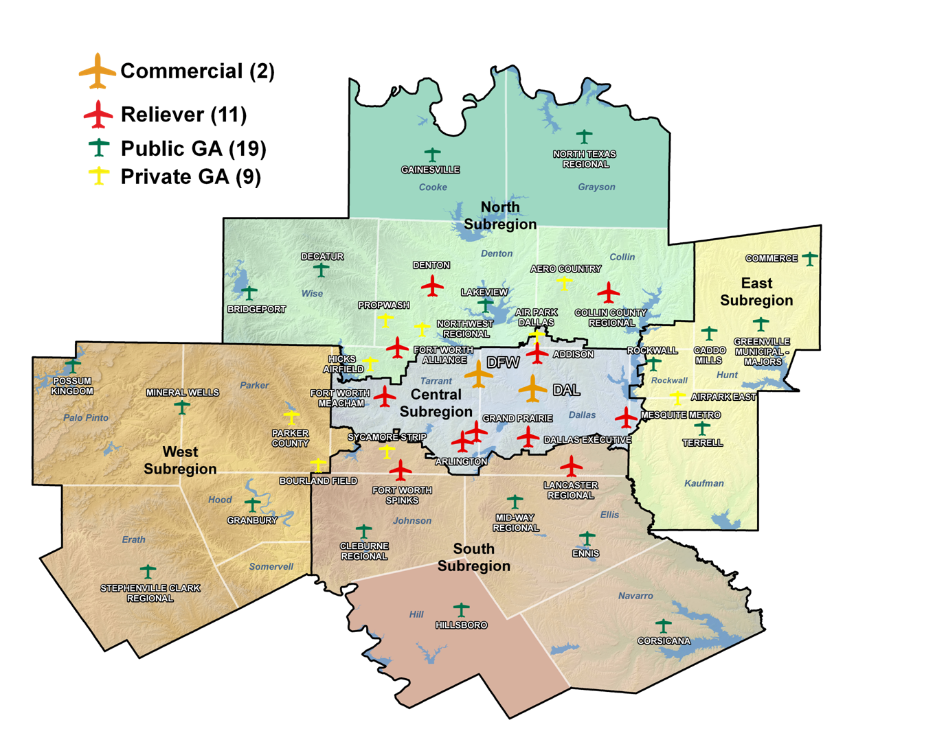 Picture of: North Central Texas Council Of Governments Regional General Aviation And Heliport System Plan
