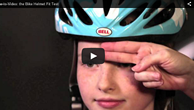 Video on how to safely and properly fit a bike helmet.