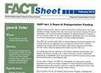 FAST Act Fact Sheet Front Page