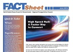 High Speed Rail Fact Sheet Cover