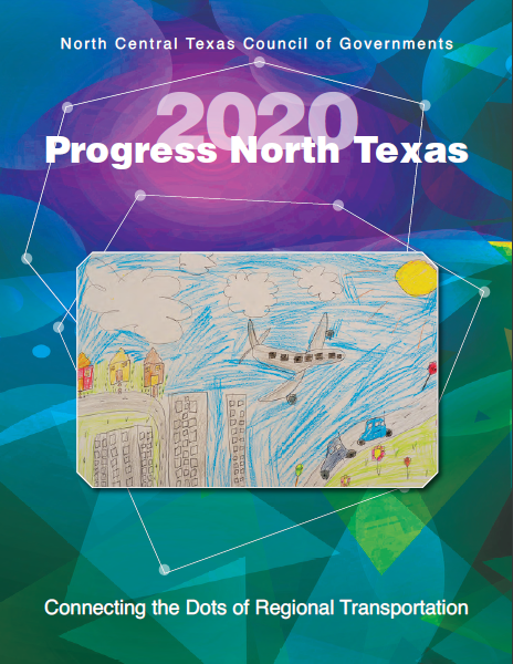 This is the cover of our newest Progress North Texas publication featuring a drawing of the dfw airport